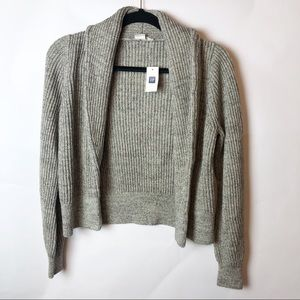Gap Grey Knit Open Front Cardigan